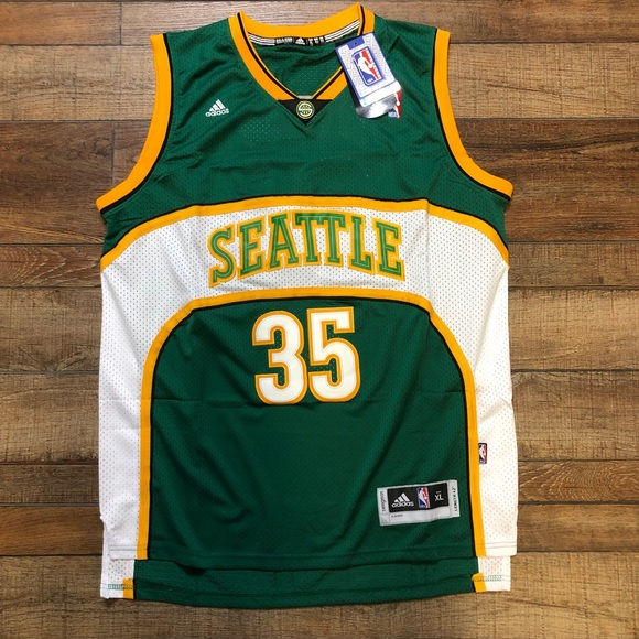 detailed look bb407 3e933 NWT KD Kevin Durant Seattle SuperSonics NBA Jersey NWT
